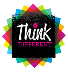 Think different creative brush typography vector