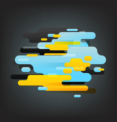 Abstract composition of different color clouds vector
