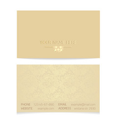 golden business card vector image
