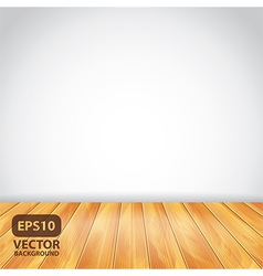 White wall wooden floor vector