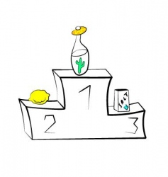 tequila victory podium vector image