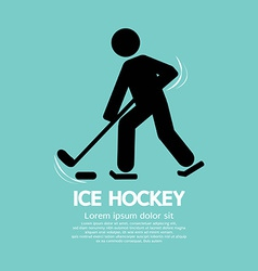 Ice hockey player symbol vector