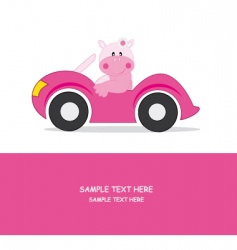 Car hippo vector