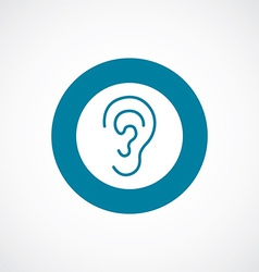 Ear icon bold blue circle border vector