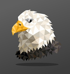 Animal portrait with polygonal geometric design vector