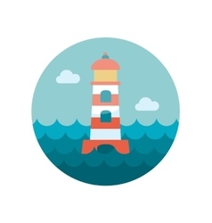 Lighthouse flat icon vector