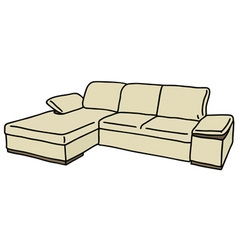 Cream couch vector