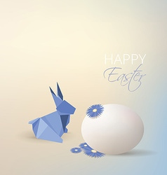 Easter rabbit origami style vector