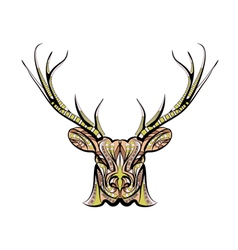 Ethnic deer vector