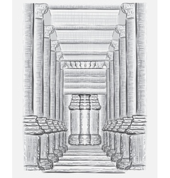 Hand drawn hall sketch vector