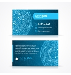 abstract blue sphere business card template vector image