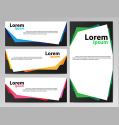 banners paper vector image