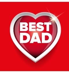 Best dad heart vector
