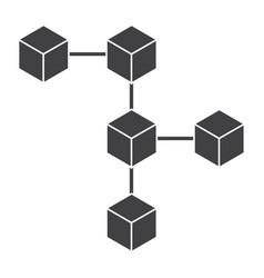 Blockchain icon vector