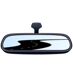 Car mirror and the road-5 vector
