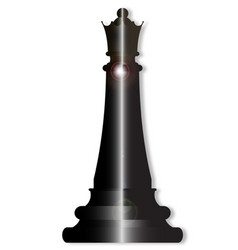 chess queen vector image vector image