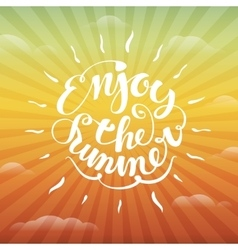 Enjoy the summer lettering vector image vector image
