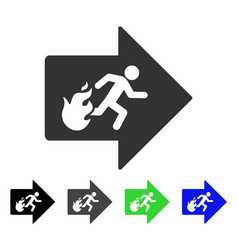 Fire exit flat icon vector
