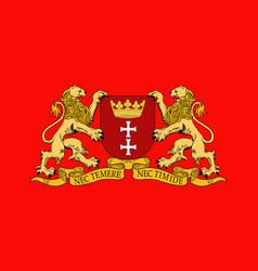 Flag of gdansk poland vector