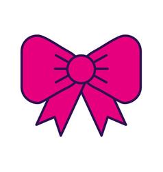 fuchsia bow cartoon vector image