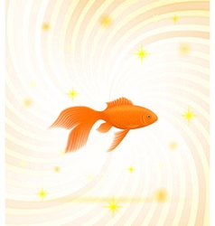 Gold fish 01 vector