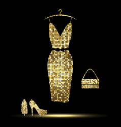 golden dress vector image vector image