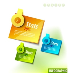 infographics labels vector image