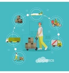 Logistics delivery transportation vector image