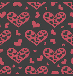 love seamless pattern with pink hearts vector image vector image