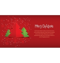 Merry christmas red horizontal postcard vector