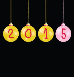 new year 2015 balls color vector image vector image