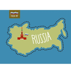 Russia map russia surrounded by barbed wire the vector