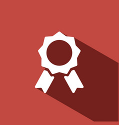 Seal of authenticity with shadow on red background vector
