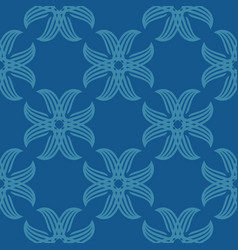 Seamless abstract vintage blue pattern vector