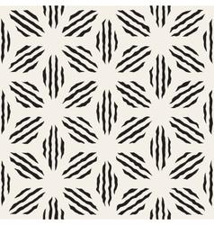 Seamless geometric petal stripes pattern vector