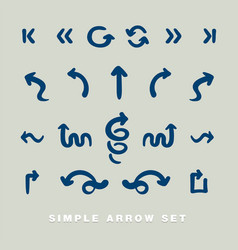 Simple arrow set vector