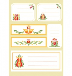 simple floral print cards vector image