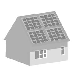 Smart home icon gray monochrome style vector image vector image