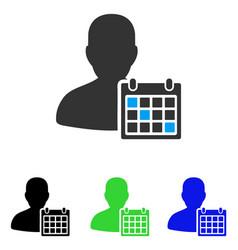 User schedule flat icon vector