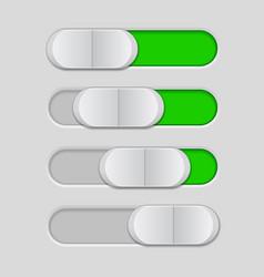 Web interface slider user interface green control vector