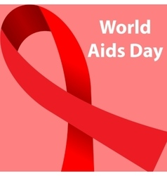 World aids day concept poster vector