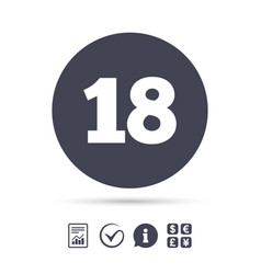18 years old sign adults content vector image