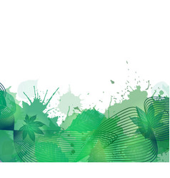 Summer cover with smoke colorful lines leaves and vector