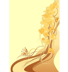 bougenvilia yellow background vector image