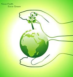 earth concept design vector image