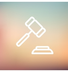 Gavel thin line icon vector