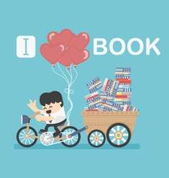 I love book vector