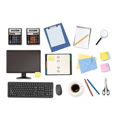 mega office supplies set vector image