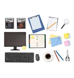 Mega office supplies set vector