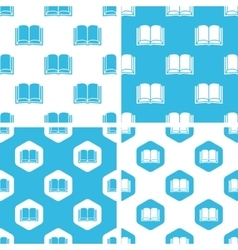 Book patterns set vector